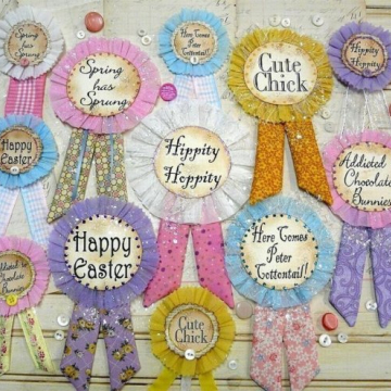 EASTER Badges pin pattern