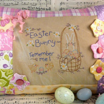 Easter Bunny ...remember me Stitchery pillow pattern