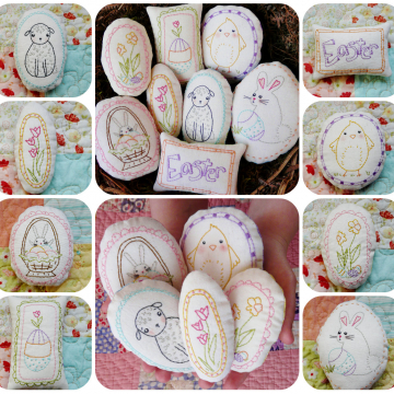 Welcome spring- 8 embroidery designs, ornaments easter pattern embroidery