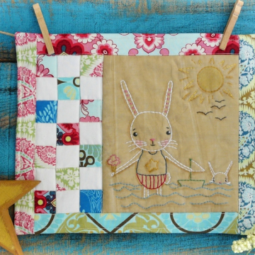 By the Sea...the Beautiful sea embroidery pattern, #357 bunny