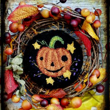 Halloween Jack Punch needle Pattern box