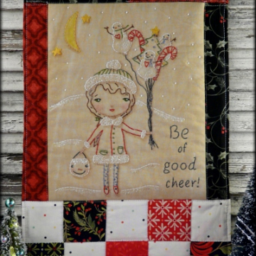 Christmas embroidery quilt pattern girl