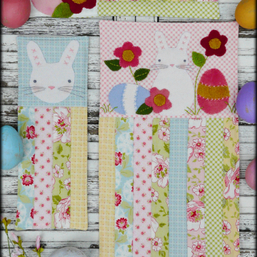 A vintage Easter bunny egg mini Quilts pattern