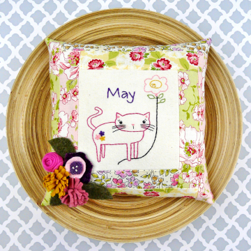 may month hand embroidery balloon pattern